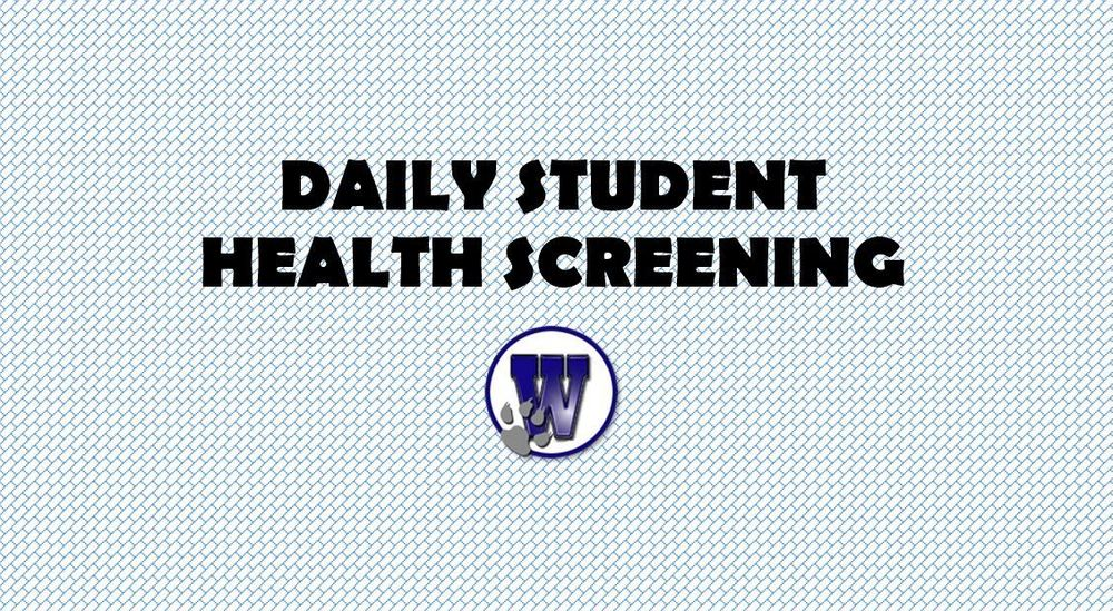 Link for the Daily In-Person Health Screening