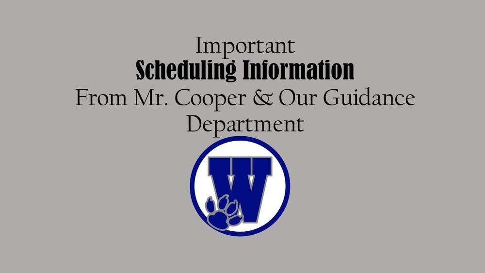 Guidance Department Scheduling Information