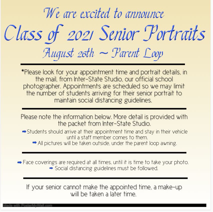 8/26/20 Class of 2021 Senior Portraits